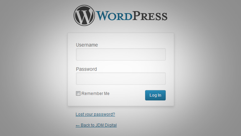 WordPress Admin Login Form