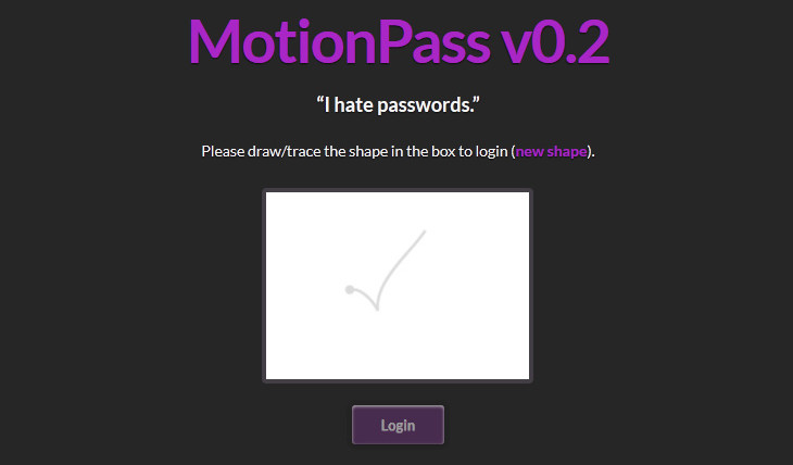 MotionPass – I hate passwords.