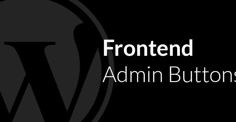 JDM Frontend Admin Buttons